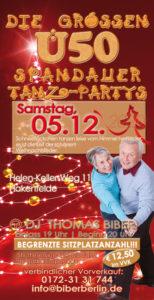 Die großen Ü50 Spandauer Tanz-Partys am 05.12.2020