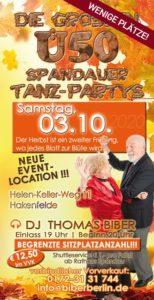 Die großen Ü50 Spandauer Tanz-Partys am 03.10.2020